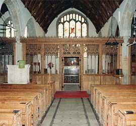 All Saints Interior, All Saints Church, Holbeton