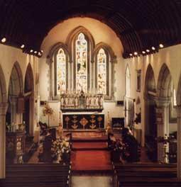 Sedilia in the chancel